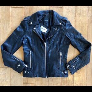 🖤Chloe Black Leather Biker/Moto Jacket LAMARQUE